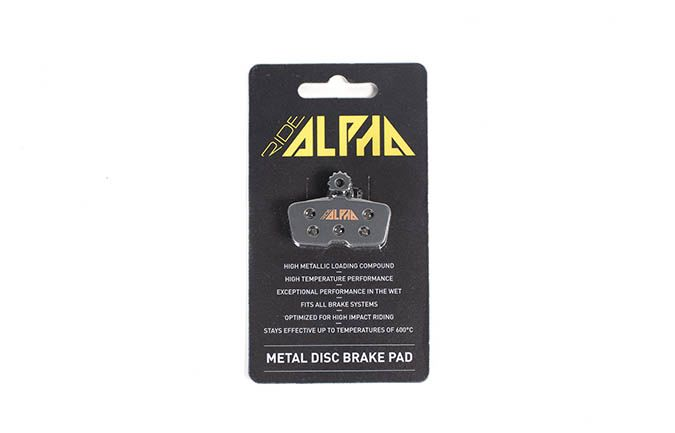 PLAQUETTES METALLIQUES RIDE ALPHA AVID CODE / GUIDE RE