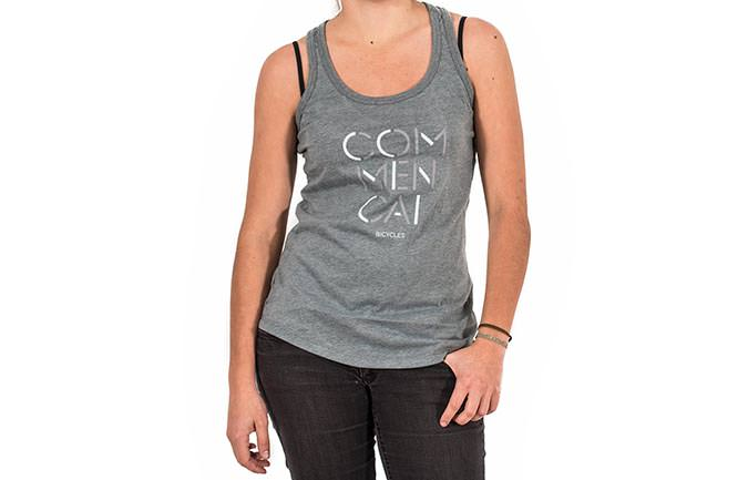 TANK TOP 3 LINES GREY GIRLY