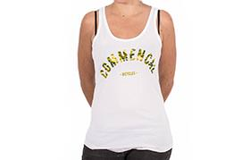 TANK TOP COLLEGE WHITE GIRLY
