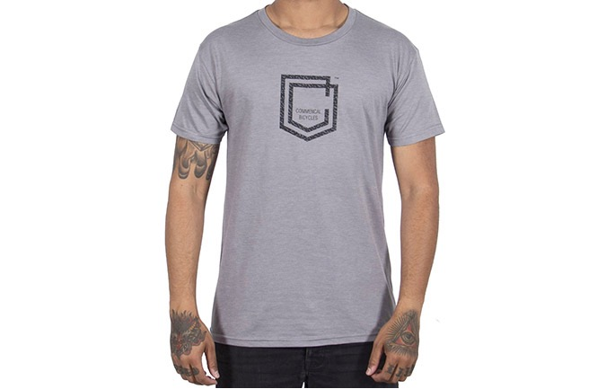 T-SHIRT COMMENCAL SHIELD HEATHER GREY 2019