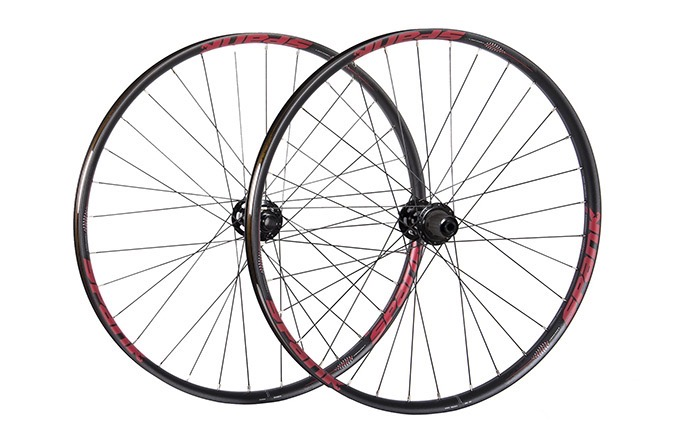 "PAIRE DE ROUES SPANK SPIKE  350 VIBROCORE 29"" RED"